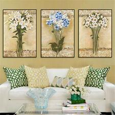 Retro Flower Oil Painting Canvas Poster Wall Home Living Room Art Decor Unframed