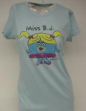 NEW Womens Juniors DAVID & GOLIATH Little Losers Miss B.J. XXX Blue T-Shirt