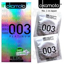 Okamoto 003 PLATINUM condoms *0.03 thickness*Super Ultra Thin* Retail box of 10