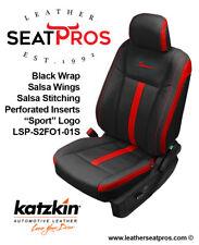 KATZKIN Leather Covers 15-20 F-150 SuperCrew SuperCab XLT Black Salsa Red Sport