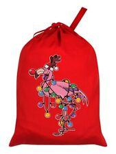 Santa Sack Festive Flamingo Red