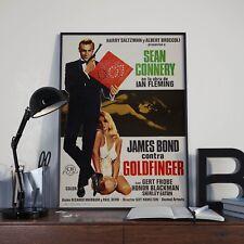 James Bond 007 Goldfinger Sean Connery Film étranger Poster Impression Photo A3 A4
