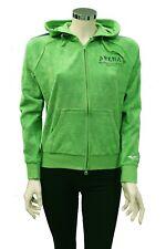 Felpa da donna verde Arena con cappuccio manica lunga aperta zip casual moda