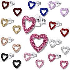 Ohrringe für Damen Kinder Ohrstecker Echt Silber 925er Sterlingsilber Kristall