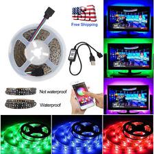 Bluetooth Control Wireless Smart RGB LED Strip Light USB Powered Sync With Music