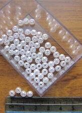 Acrylique rond lisse 250 billes de plastique 5mm enduits pearly finition choisir couleur