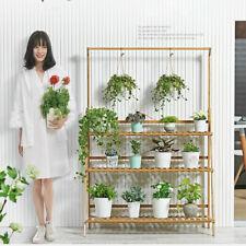Bamboo Hanging Plant Stand Planter Shelves Flower Pot Organizer Storage Rack USA