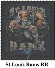 NFL Saint Louis Rams Mascot cross stitch pattern