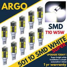 T10 W5w 194 501 10 Smd Led Bulbs Car Interior Lights Side Lamp Wedge Capless 12v