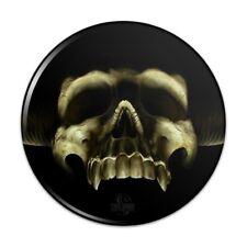 Shadow Skull Monster Horns Fantasy Pinback Button Pin Badge