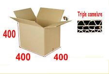 1 caisses carton boîtes d' emballage 400 X 400 X 400 mm Triple cannelure