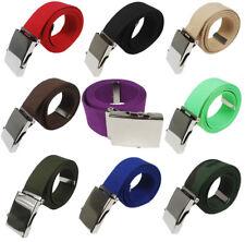 Gürtel Stoffgürtel Damengürtel Herrengürtel mit Metallschnalle Unisex