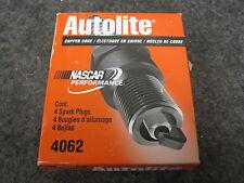 4 NEW AUTOLITE SPARK PLUGS # 4062