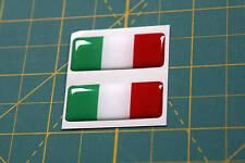 2 DOMED ITALIAN FLAGS 35mm X 15mm