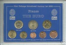 La zona del euro invención de Francais Francia moneda francesa Conjunto de regalo de coleccionista europeo