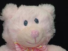 Russ Baby Girl Pink Plush My 1St Teddy Bear Lovey Stuffed Animal Crib Stripe Bow