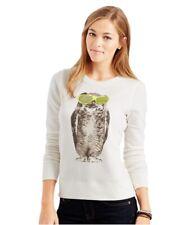 Aeropostale Womens Owl Swag Sweatshirt