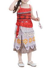 Tipo Vaiana Vestito Carnevale Bambina Cosplay Dress Simil Moana Costume VAIDR04