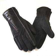 Men's Suede Gloves Leather Gloves Winter