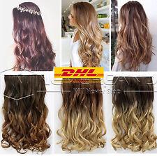 Haarteile OMBRE BLOND GEWELLT GELOCKT CLIPS Haarverlängerung Extensions Hair