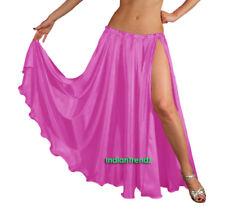 Orchid - Satin 2 Slit Full Skirt Belly Dance Gypsy Tribal 9 Yard Panel Jupe