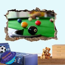 Snooker Billards Pool Sport Kids Room Nursery Bureau Autocollant Mural Art Mural XK5
