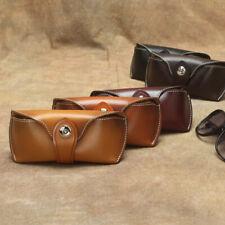 Genuine Leather Glasses Case Sunglasses Protector Holder Eyeglasses Storage Bag
