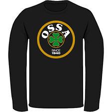 OSSA Logo Classic Retro Motorcycle Men's Black Long Sleeve T-Shirt Size S-3XL