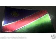NAMIBIAN FLAG Decal Vinyl Sticker chrome or white vinyl decal and 15 sizes!