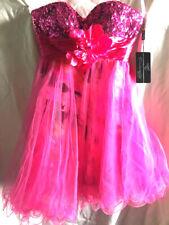 CINDERELLA DIVINE Women's cocktail / party dress pink purple multi with sequins