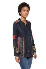 Desigual Blue Embroidered Pisa Shirt XS-XXL UK 8-18 RRP �84