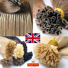 18 inch Russian Remy Human Hair Extensions Pre Bonded Keratin Nail U Tip - UK