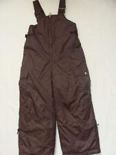 NWT Girls Zero XPosur Snow Pants Size 4 SKI Brown Bibs Overalls Cargo Winter NEW