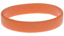 Orange Silicone Wristband Rubber Bracelet Elastic Bangle by Handband - Blank