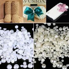 1000pcs Mixed Size ABS Imitation Pearls Half Round Flatback DIY Craft Decor Use