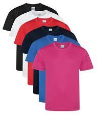 Enfants Garçon FILLES séchage rapide Athlétique Mèche LISSE polyester T-shirt