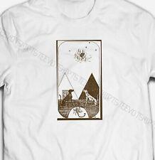 Mens Womens Vintage Egyptian Dogs Tarot  S-XXXL White Cotton T-shirt Tshirts Tee