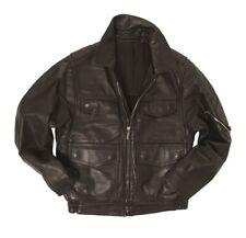 ORIGINAL Polizei Lederjacke schwarz Echt Leder Blouson Motorradjacke 46-60