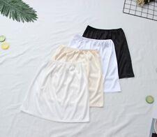 Women Satin Faux Silk Underskirt Petticoat Mini Under Skirt Half Slip Unederwear