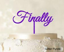 """Finally"" Personalized Monogram Cake Topper Glitter Cake Topper Cake Decoration"
