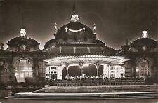 France.Vichy (Allier) Le Casino Illumine ,Vintage Real Photo Postcard.