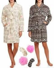 London Womens Size XL 14-16-18 Plush Belted Robe & Night Mask Loofah Gift Set