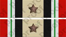 STICKER MILITARY RIBBON IRAQ 1 STAR