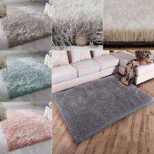 Glitter Shaggy Rug Fluffy Sparkle Thick Plush Mat Long Pile Area Shag RUG Carpet