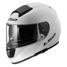 LS2 Vector FF397 Blanco Sólido Moto Casco cubre toda la cara Todos Los Tamaños