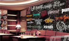 3D Alphabet.Graffit Photo Papier Peint en Autocollant Murale Plafond Chambre Art