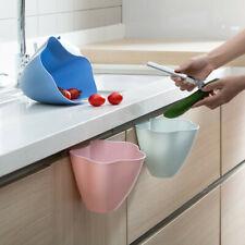Over The Cabinet Kitchen Bath Waste Bin Trash Can Basket Hanging Rack Holder Box