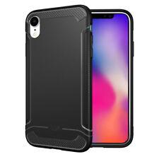 For Apple iPhone XR, TUDIA LINN Lightweight Carbon Fiber TPU Cover Case