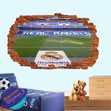 STADIO di calcio MADRID SPAGNA 3D Adesivo Parete rotte Room Decor Decalcomania Murale XE7