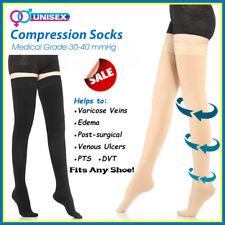 Medical Graduated Compression Socks Men & Women 30-40 mmHg Nurses Flight Travel